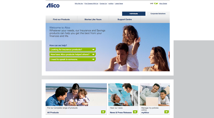 ALICO homepage