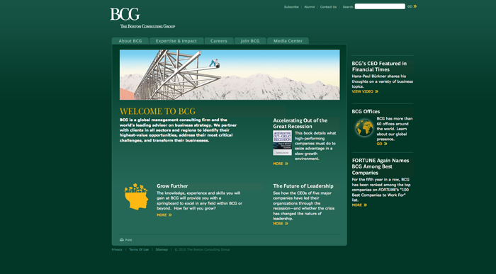 BCG home page