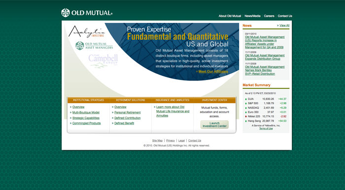 Old Mutual homepage