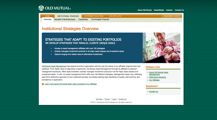 Old Mutual interior page
